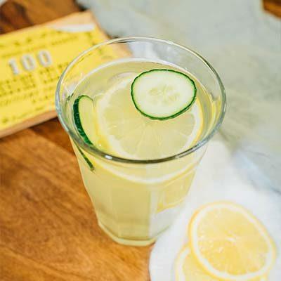 boisson Citronnade Concombre et Fleurs de Sureau